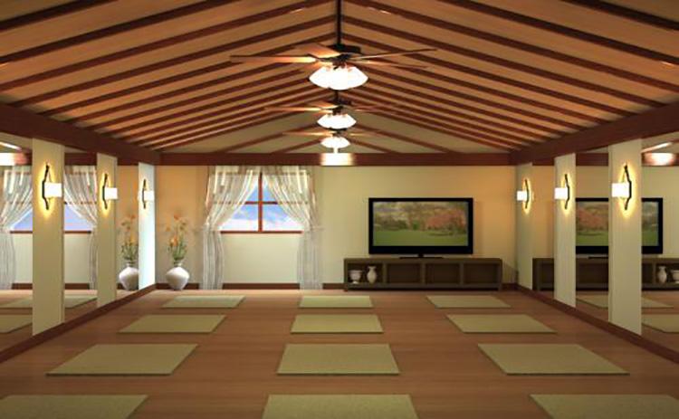 巴中瑜伽会所碳纤维电热膜安装案例